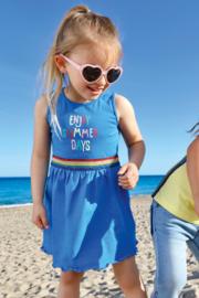 Kids Girls knitted Dress-ENJOY SUMMER-Blue Seven-OCEAN ORIG