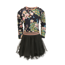 Girls Dress Dance Dance Dance - LoFff- Peacock print