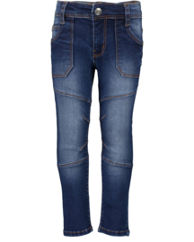Blue Seven-Kids Boys woven jeans -DK Blue orig