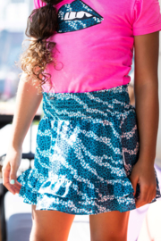 B.Nosy-Girls skirt with 2 ruffle parts on hem-Good Zebra AO