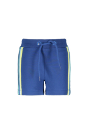 Bampidano- Baby Boys sweat shorts Eliah AO/plain with striped tapes + waistcord CACTUS - Blue