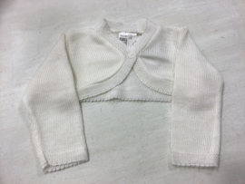 LPC- Nursery Time-Baby Girls Bolero Gebreid -White