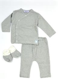 Dirkje-Baby Boys pre 2-pce Babysuit  + booties- Navy Stripe