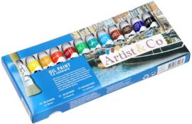 Artist & Co olieverf 12 kleuren-C-Div kleuren