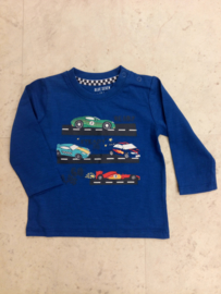 Blue Seven-Mini Boys knitted shirt-Ocean