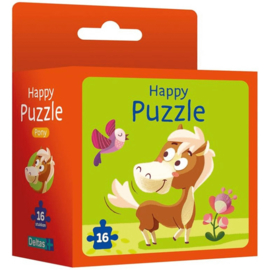 Happy puzzle - Pony -Deltas-Orange