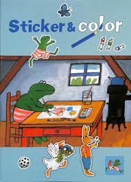 Kinderboek Kikker Sticker & Color kleurboek A4-C- diverse kleuren