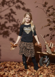 Kids Girls Skirt India 04-Kids-Up-Brown aop