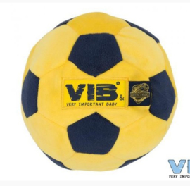 """Pluche voetbal """"Elk kind een bal"""" -VIB-Yellow-Navy"""