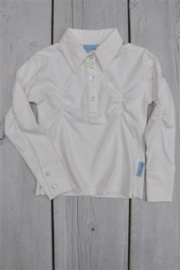 Girls Polo Shirt- Porto Azul- ecru