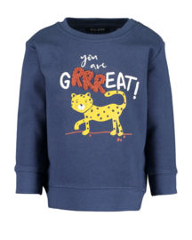 Blue Seven-Mini boys knitted sweatshirt-DK Blue orig