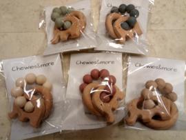 Play Rattle Elephant-Chewies- diverse basis kleuren