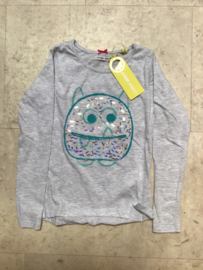 Girls T-Shirt Face-Lemon Beret-Grey