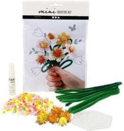 Mini Creatieve Set, creatief met kralen - bloemenp-C-Diverse kleuren