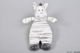 Unisex ZAZA-ZOO Zebra rammelaar Knuffel-C-White