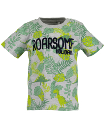 Mini boys knitted shirt-ROARSOME HOLIDAYS-Blue Seven-FOG ORIG