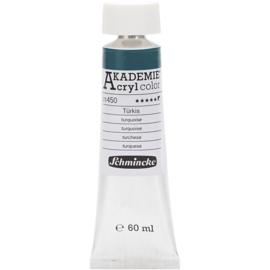 Acryl color-turquoise (450), semi-opaque, extr. fade resistant, 60ml-Schmincke AKADEMIE