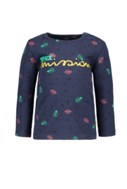 Baby Boys longsleeve Bryan allover print SPACE-Bampidano-Navy allover