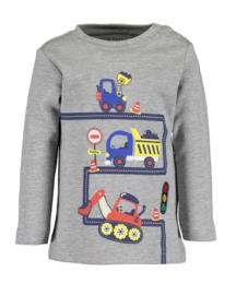 Blue Seven-Mini boys knitted shirt-Med Grey  orig