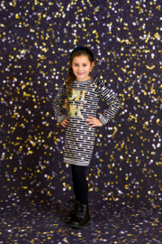 Girls Dress Lizzy- OChill- Black White
