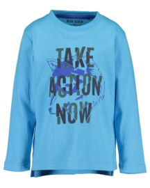 Blue Seven-Kids Boys knitted T-shirt-Turquoise