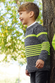 Blue Seven-Kids Boys knitted pullover-Black twisted orig