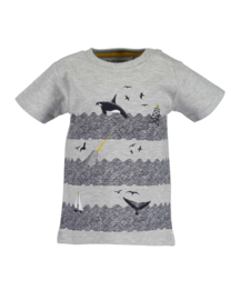 Mini boys knitted shirt-WHALE DIVE-Blue Seven-FOG MEL ORIG