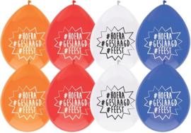 Hoera Geslaagd ballonnen-C-Div kleuren