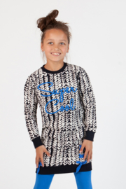 Girls Dress- OChill- Black white