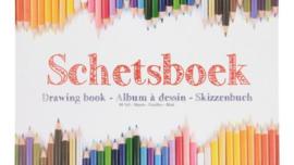 Schetsboek A4 80 vel-C- Wit