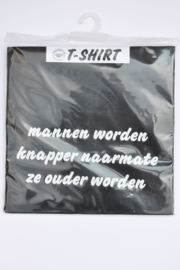T-Shirt Mannen Knapper-T-Black