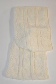 Unisex Sjaal gebreid- Ewers- White