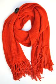 Gebreide Sjaal knoop-T-steenrood