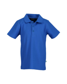 Kids  Boys knitted polo shirt-Blue Seven-Ocean