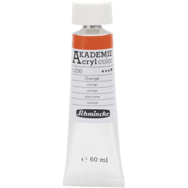 Acryl color-orange (230)-semi-opaque-fade resistant, 60ml-Schmincke AKADEMIE