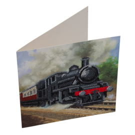 Craft Buddy- Card Kit-Diamand Painting Train (partial)- Multi Color