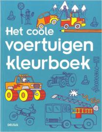Kleurboek Coole Voertuigen-Deltas-Blue