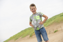 Boys  Shirt Frankie -Legends22-Lightgrey - green