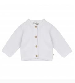 Ducky Beau-Baby Unisex Cardigan Bright White-White