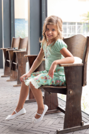 LoFff- Girls Skirt Multiflower-Mint flower