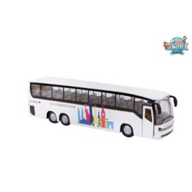 Kids Globe Bus Die Cast Pull back met l/g-C.W.-White