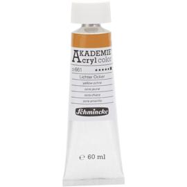 Acryl color-yellow ochre (661), opaque, extr. fade resistant, 60ml-Schmincke AKADEMIE