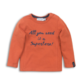 Boys Baby t-shirt ls- Dirkje- Rusty orange
