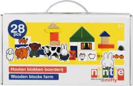 Nijntje houten blokken Boerderij-B-Multi Color