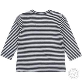 Dirkje-Baby Boys t-shirt l.s Bio Cotton -Navy +off white