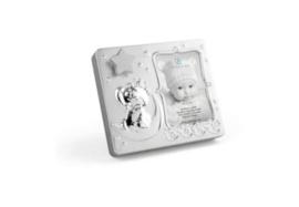 Unisex Fotolijst baby met muziek-Zilverstad-Zilver