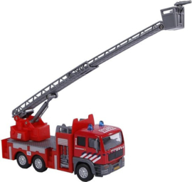 Kids Globe Brandweer Die-Cast ladderwagen l/g-C-Red