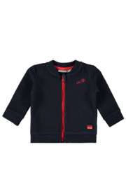 Baby Boys waffle fabric cardigan with embroidery on  back EXPLORER-Bampidano-navy