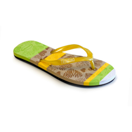 Girls Flip-flop with profiled insole- Libaco- Yellow-maat 28t/m38