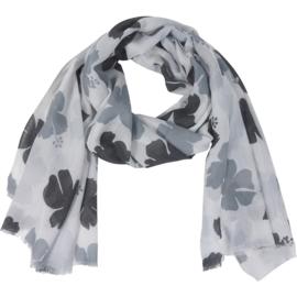 Sjaal orchideeën-Klijn-Wit